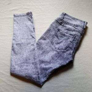LOVE SICK gray stretchy skinny jeans jeggings